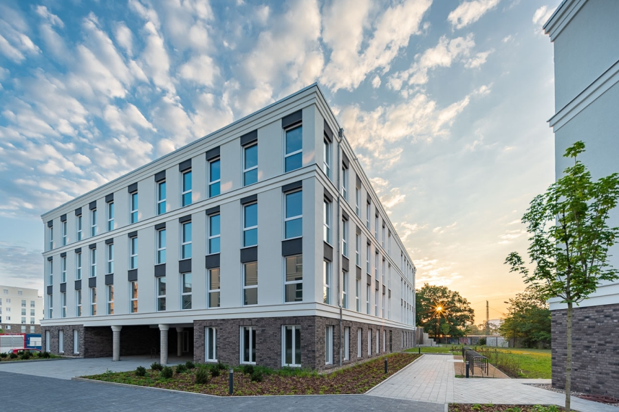 BrunnenViertel Potsdam - Fassade neues Bürohaus