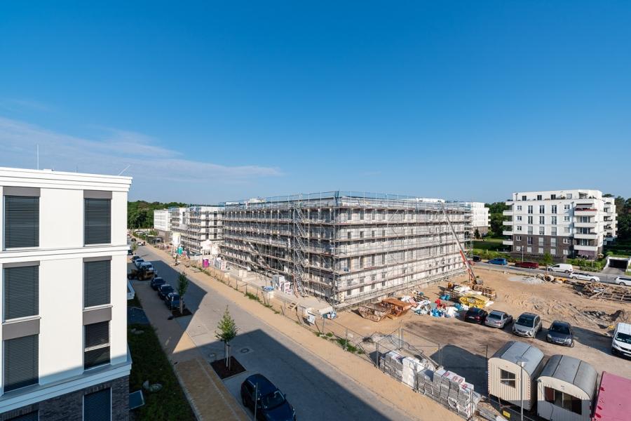BrunnenViertel Potsdam - Blick auf Baustelle Zwillinge