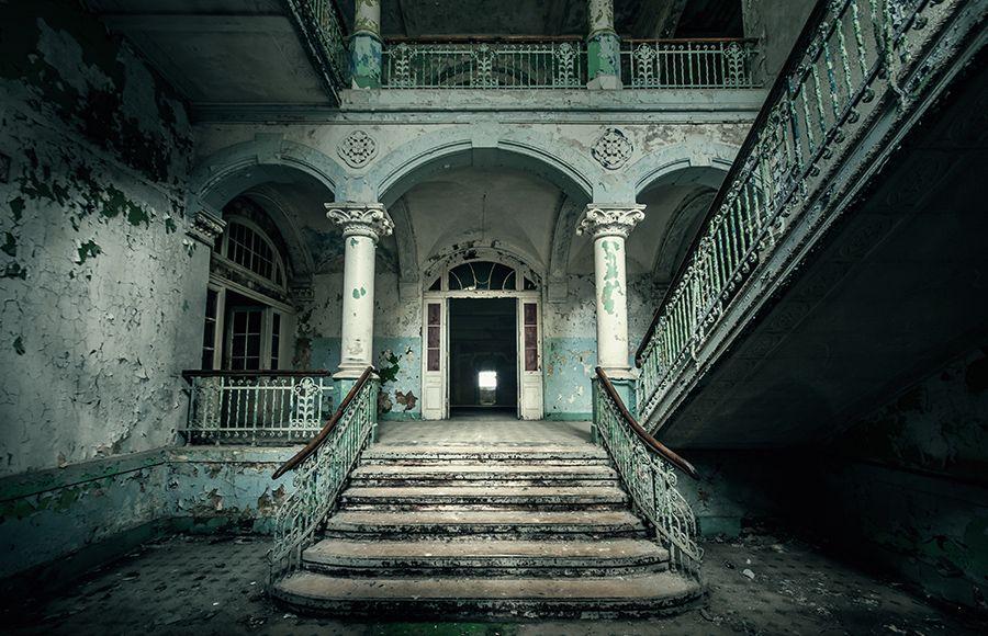 Quartier Beelitz-Heilstätten - Foyer im historischen Männersanatorium, künstlerisches Foto