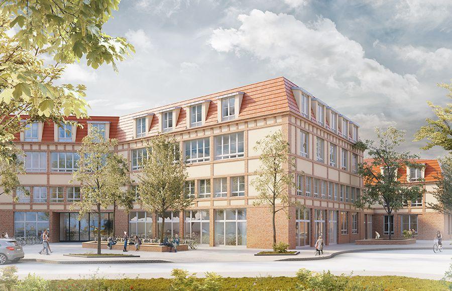 Quartier Beelitz-Heilstätten - Visualisierung der Planung für Schule und Hort