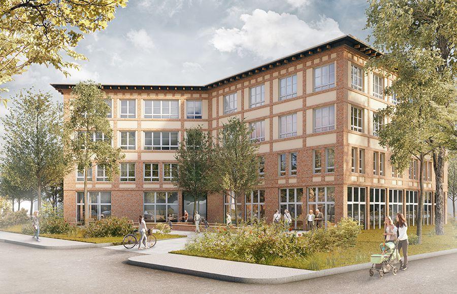 Quartier Beelitz-Heilstätten - Visualisierung der Planung für das Ärztehaus am Bahnhof