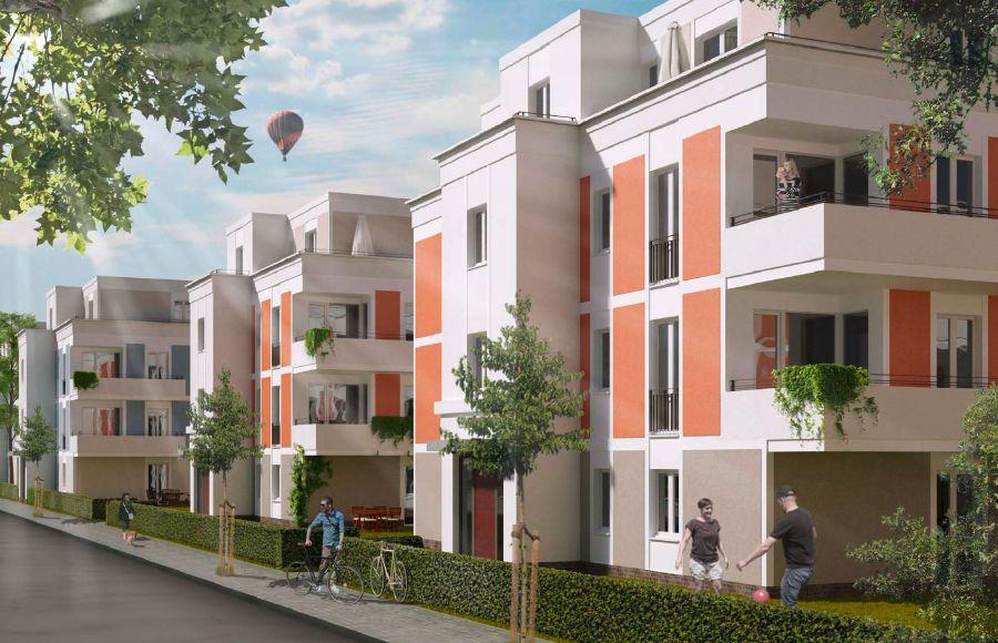 Eisenhutweg - Visualisierung der möglichen Fassadengestaltung der geplanten Stadtvillen
