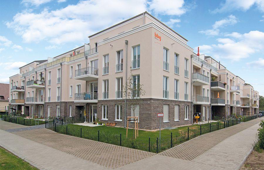 Hofhäuser Karlshorst - Eckansicht eines Mehrfamilienhauses