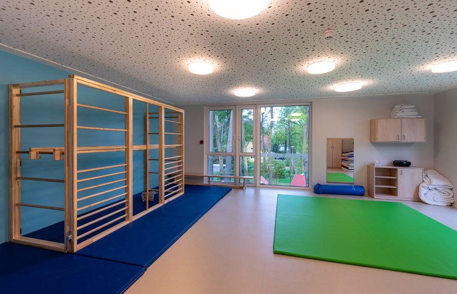 """Kindergarten am Filmpark - Sportraum in der Kita """"Ole Lukoie"""""""