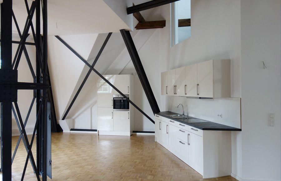 Refugium Beelitz - Wohnküche einer Mieteinheit im historischen Küchengebäude nach Sanierung