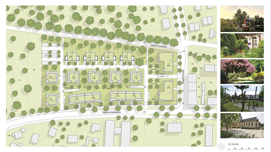 Elisabethstraße Strausberg - Lageplan zum städtebaulichen Konzept
