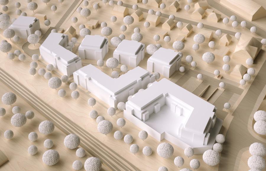 Bergfelde 2. Baufeld - 3-D-Modell des städtebaulichen Konzepts