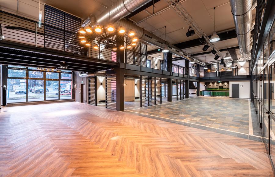 Studio Five - Innenbereich Coworking Space nach Ausbau ohne Inneneinrichtung
